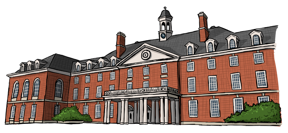 drawing of The Illini Union